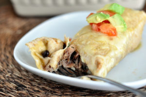 Smothered Sweet Pork Burritos by Mel's Kitchen Cafe