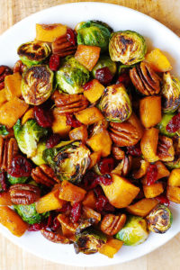 Roasted Brussel Sprouts, Cinnamon Butternut Squash, Pecans and Cranberries by Julia's Album
