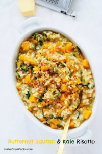 Butternut Squash and Kale Risotto by Naive Cook Cooks