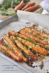 Parmesan Roasted Carrots by Your Homebased Mom