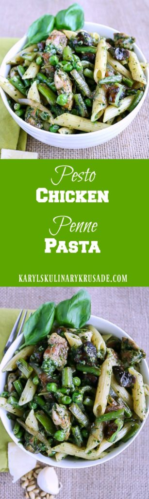 Pesto Chicken Penne Pasta - Karyl's Kulinary Krusade