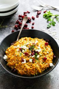 Pumpkin Risotto with Goat Cheese by Platings & Pairings