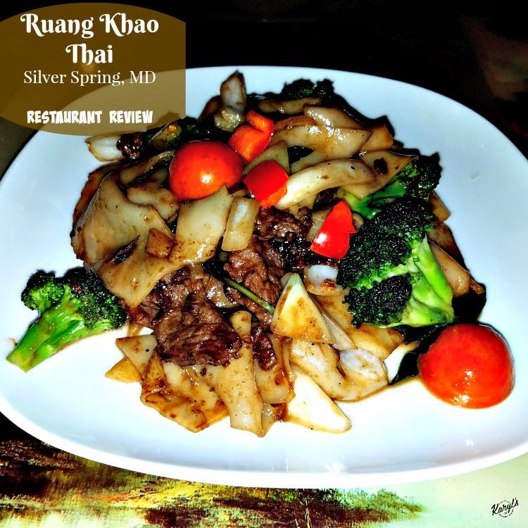 Ruang Khao Thai Silver Spring Md Karyl S Kulinary Krusade