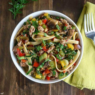 Ground Turkey Vegetable Pasta