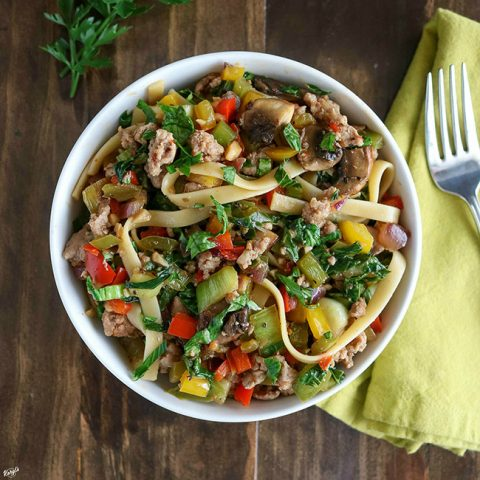 Ground Turkey Vegetable Pasta