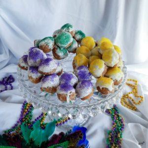 Mardi Gras Doughnut Holes