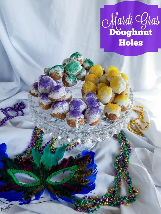 Mardi Gras Doughnut Holes - Karyl's Kulinary Krusade
