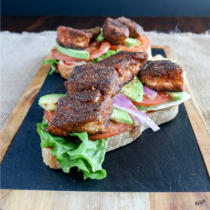 Open Faced Blackened Salmon Sandwich - Karyl's Kulinary Krusade