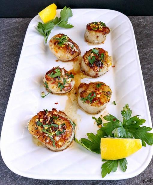 Garlic Lemon Butter Scallops - Karyl's Kulinary Krusade
