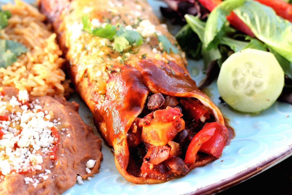 Sweet Potato Black Bean Vegetarian Enchiladas