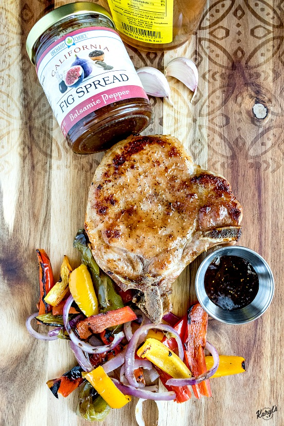 Grilled Pork Chops with Fig Honey Glaze - Karyl's Kulinary Krusade