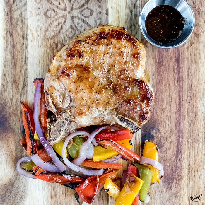 Grilled Pork Chops with Fig Honey Glaze