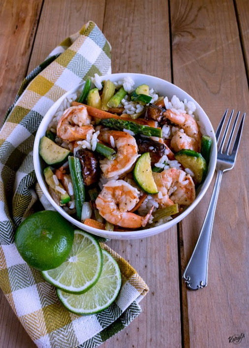 Honey Lime Shrimp and Vegetables - Karyl's Kulinary Krusade