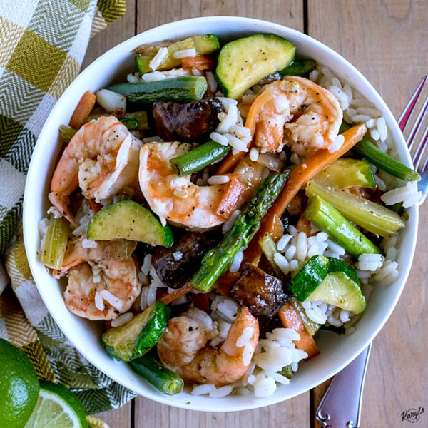 Honey Lime Shrimp and Vegetables