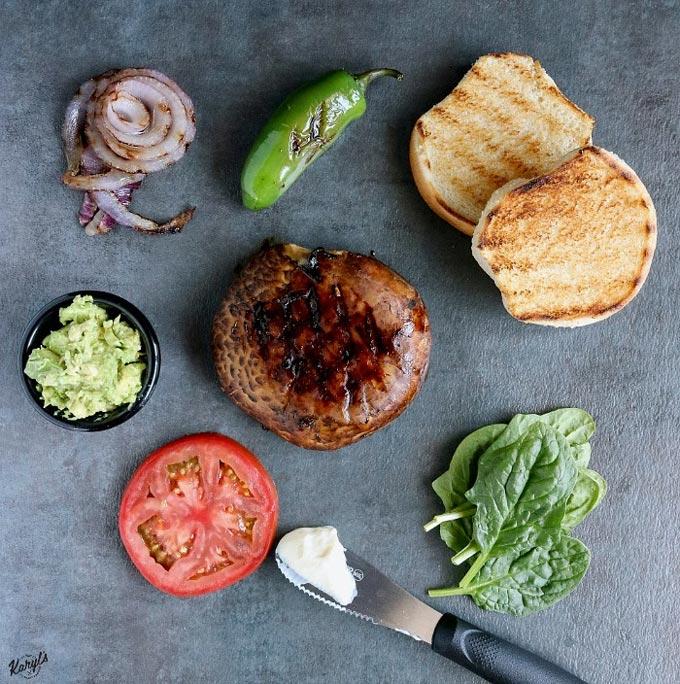 Loaded Zesty Portobello Burger - Karyl's Kulinary Krusade