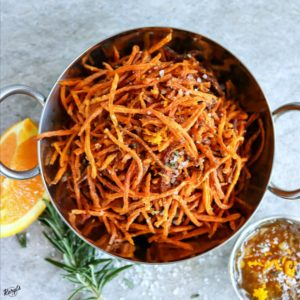 Matchstick Carrot Fries with Rosemary Sea Salt