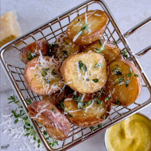 Oven Roasted Potatoes with Parmesan and Thyme