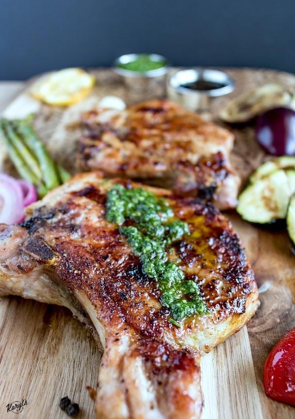 Peppercorn Garlic Pork Chops - Karyl's Kulinary Krusade