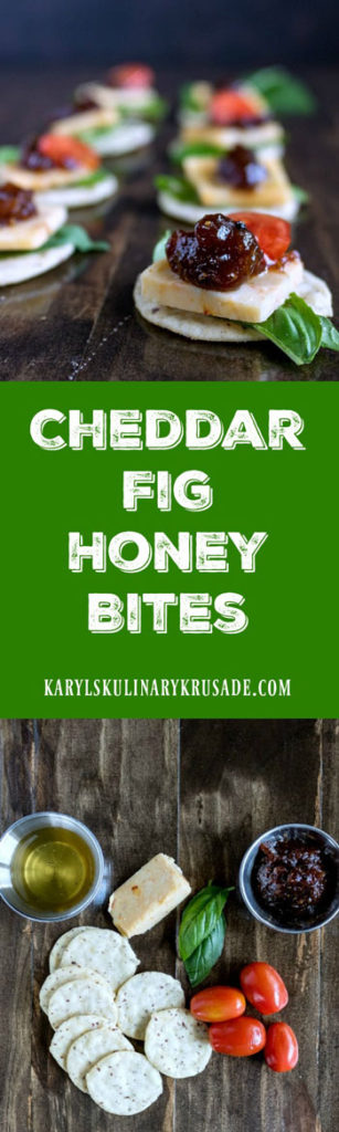 Cheddar Fig Honey Bites - Karyl's Kulinary Krusade