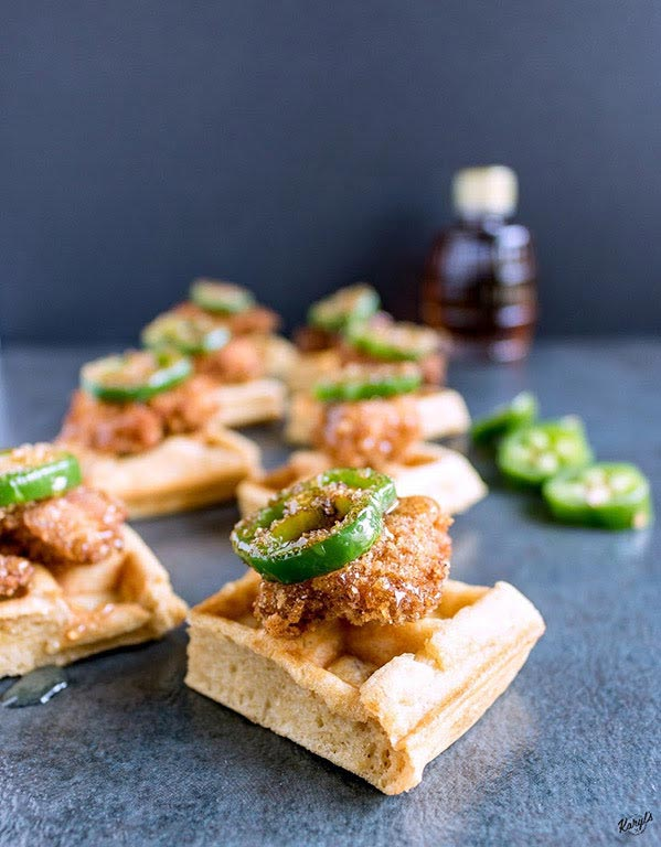 Homemade Chicken and Waffle Bites - Karyl's Kulinary Krusade