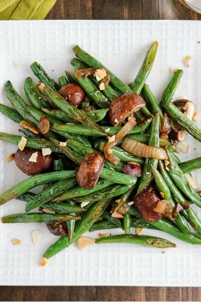 Green Bean Mushroom Saute - Karyl's Kulinary Krusade