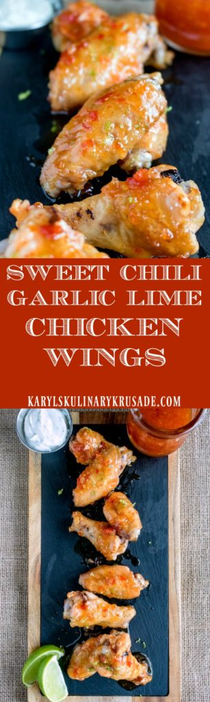 Sweet Chili Garlic Lime Chicken Wings - Karyl's Kulinary Krusade