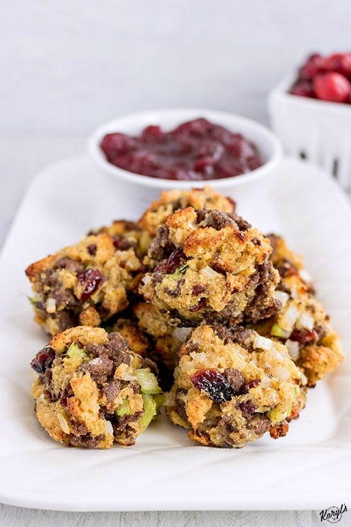Venison Stuffing Balls - Karyl's Kulinary Krusade