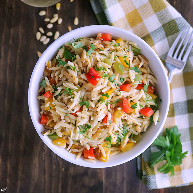 Orzo with Onions, Garlic and Peppers | Karyl's Kulinary ...