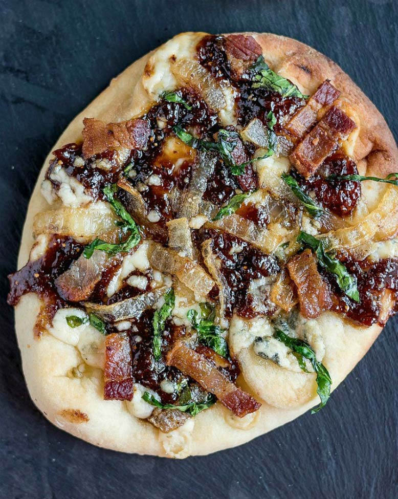 Bacon Fig and Gorgonzola Pizza - Karyl's Kulinary Krusade