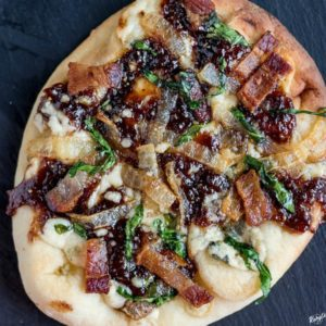 Bacon Fig Gorgonzola Pizza - Karyl's Kulinary Krusade