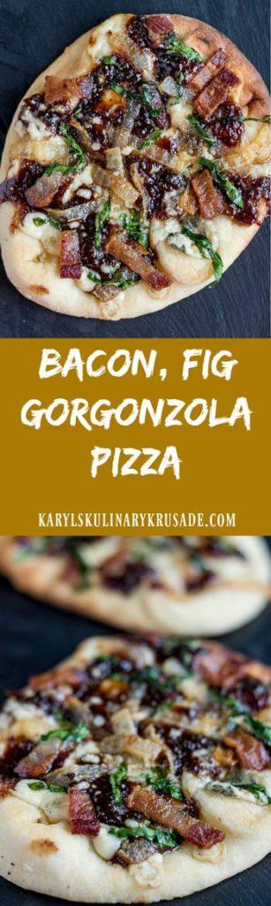 Bacon Fig Gorgonzola Pizza - Karyl's Kulinary Krusade