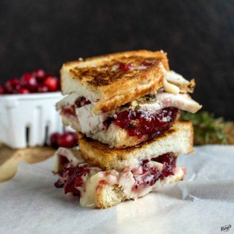 Roasted Turkey Cranberry Grilled Cheese - Karyl's Kulinary Krusade