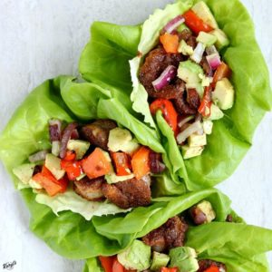 Spicy Shrimp and Avocado Lettuce Cups - Karyl's Kulinary Krusade