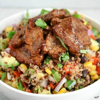 Steak Fajita Quinoa Salad