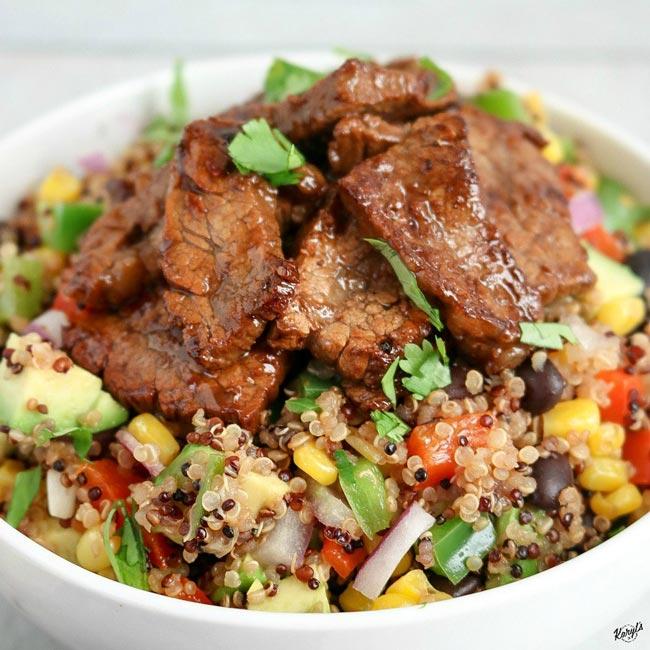 Steak Fajita Quinoa Salad