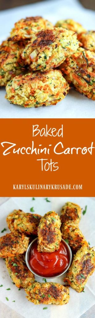 Baked Zucchini Carrot Tots - Karyl's Kulinary Krusade