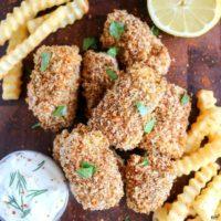 Crunchy Baked Fish Sticks
