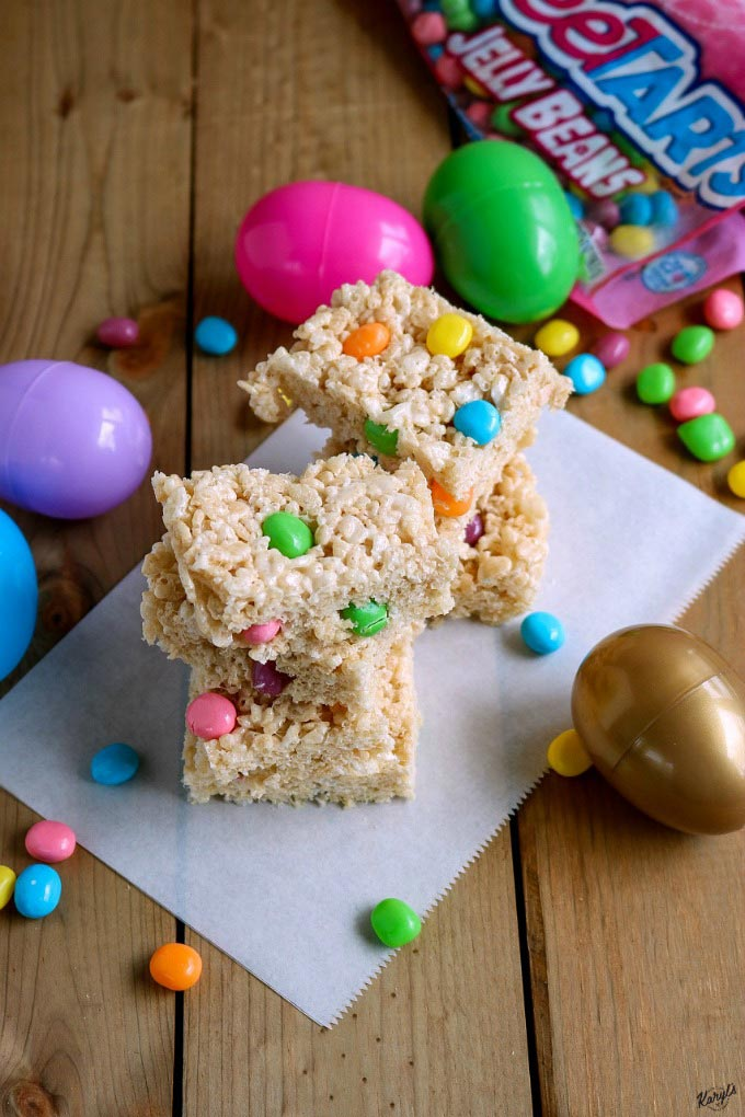 Jelly Bean Rice Krispies Treats - Karyl's Kulinary Krusade