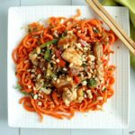 Thai Peanut Chicken with Carrot Spirals - Karyl's Kulinary Krusade