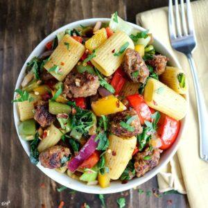 Italian Sausage Bell Pepper Pasta - Karyl's Kulinary Krusade