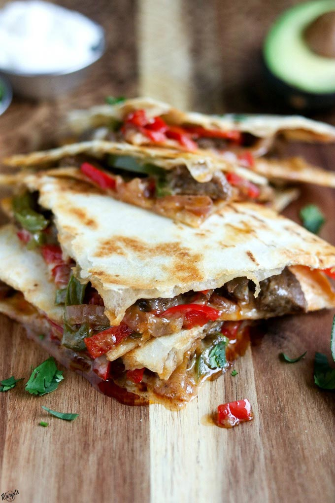 Steak Fajita Quesadillas - Karyl's Kulinary Krusade