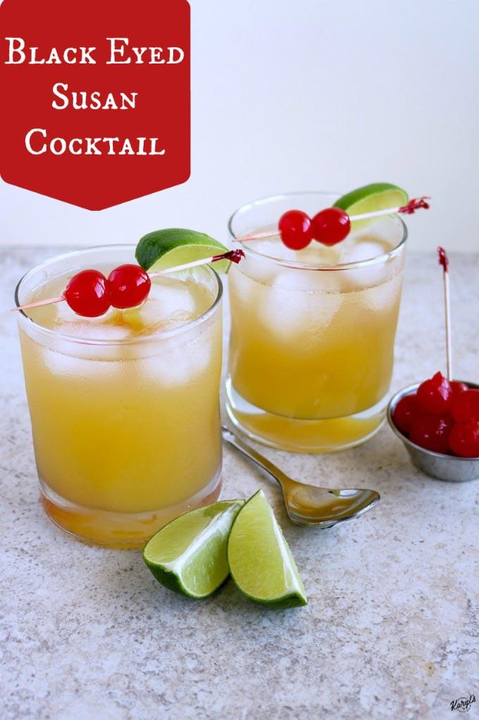 Black Eyed Susan Cocktail - Karyl's Kulinary Krusade