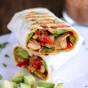 Crispy Chicken Fajita Wrap - Karyl's Kulinary Krusade