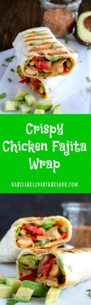 Crispy Chicken Fajita Wrap - Karyl's Kulin