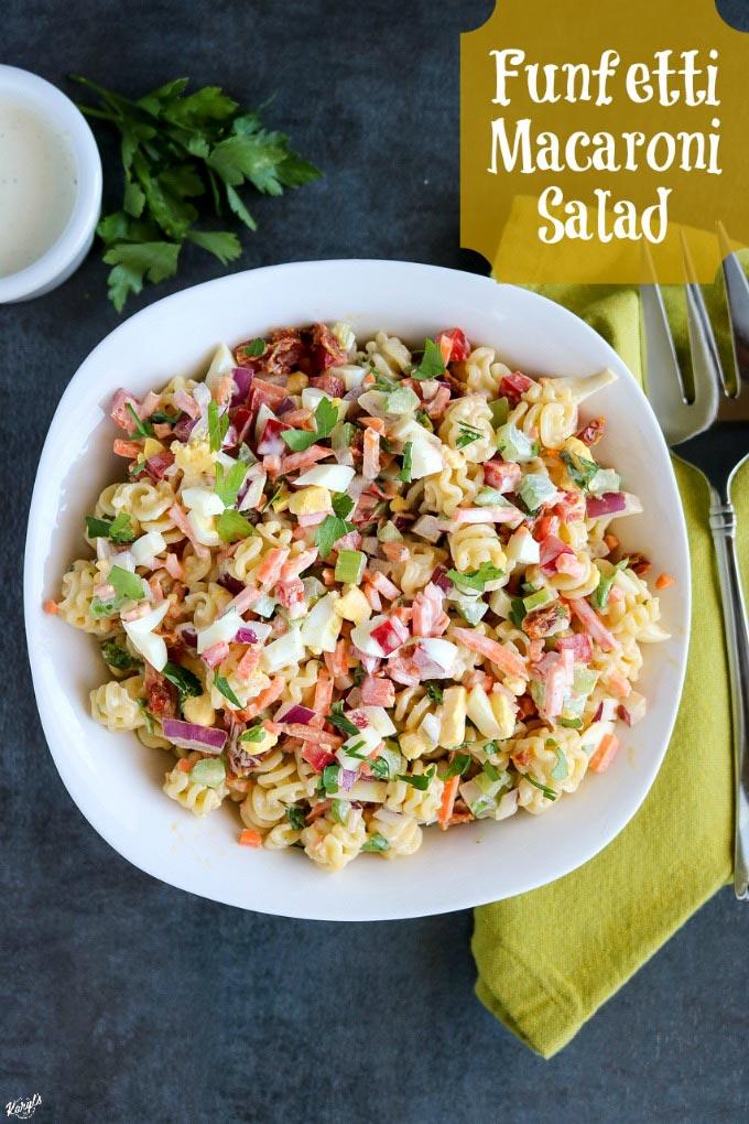Funfetti Macaroni Salad - Karyl's Kulinary Krusade