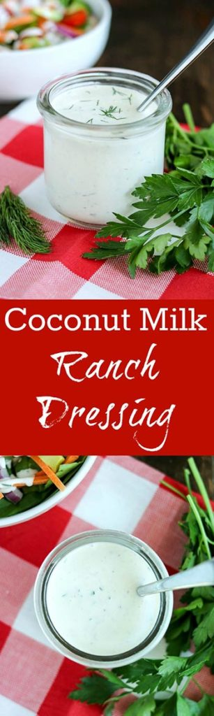 One taste of Coconut Milk Ranch Dressing, and you'll ditch the store-bought bottle forever! Make a big batch, because you'll want to dip, dunk and drizzle this creamy and flavorful dressing on absolutely everything #coconutmilk #ranchdressing #coconutmilkranchdressing #freshherbs #homemadedressing #vegetarian #glutenfree #karylskulinarykrusade