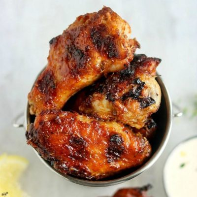 Grilled Honey Bourbon Chicken Wings - Karyl's Kulinary Krusade