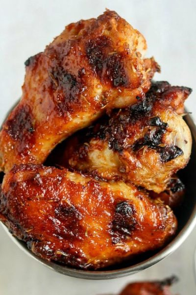 Grilled Honey Bourbon Chicken Wings