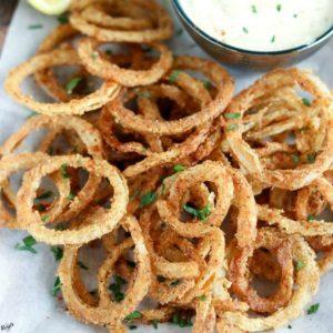 Crispy Fried Onion Straws - Karyl's Kulinary Krusade