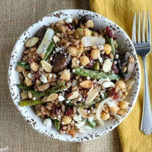 Roasted Mushroom and Green Bean Farro Salad - Karyl's Kulinary Krusade